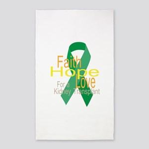 Faith,Hope,love For a Kidney Transplant Ribbon 3'x